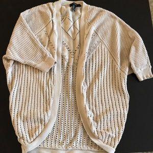 Forever 21 Beige Knit Shrug Cardigan